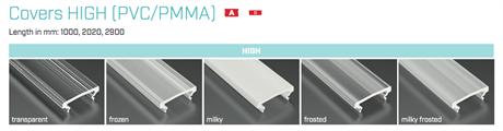 COVER HIGH - PMMA - MILKY - 1m