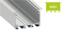 PROFILE INSO - ALU - SILVER ANODIZED - Office ceiling - 1m