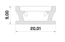 PROFILE TERRA - ALU - SILVER ANODIZED - Bathroom - 1m
